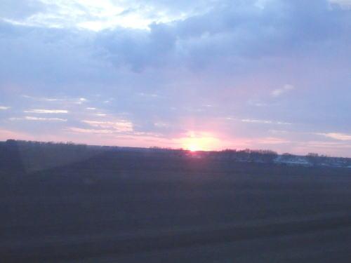 戦友 赤い夕日
